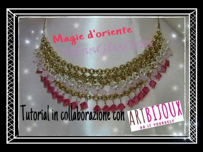 DIY: Tutorial Magie d'oriente necklace   tutorial in collaborazione con Artbijoux