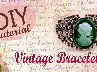 DIY Vintage Bracelet. Tutorial: Bracciale Vintage con Cabochon