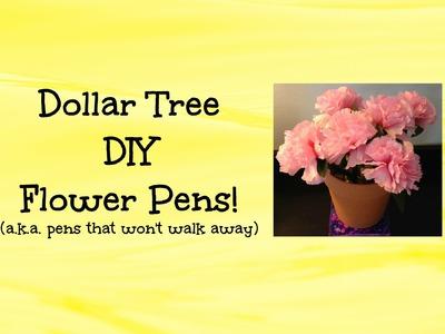 Dollar Tree DIY Project - Flower Pens - Easy & Fun Craft Idea!