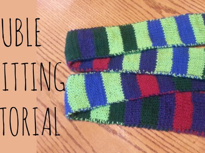 Double Knitting Tutorial   Striped Scarf