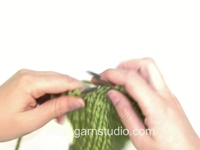 DROPS Knitting Tutorial: How to work Japanese short rows