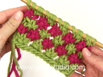 DROPS Knitting Tutorial: How to work a star pattern with two colors