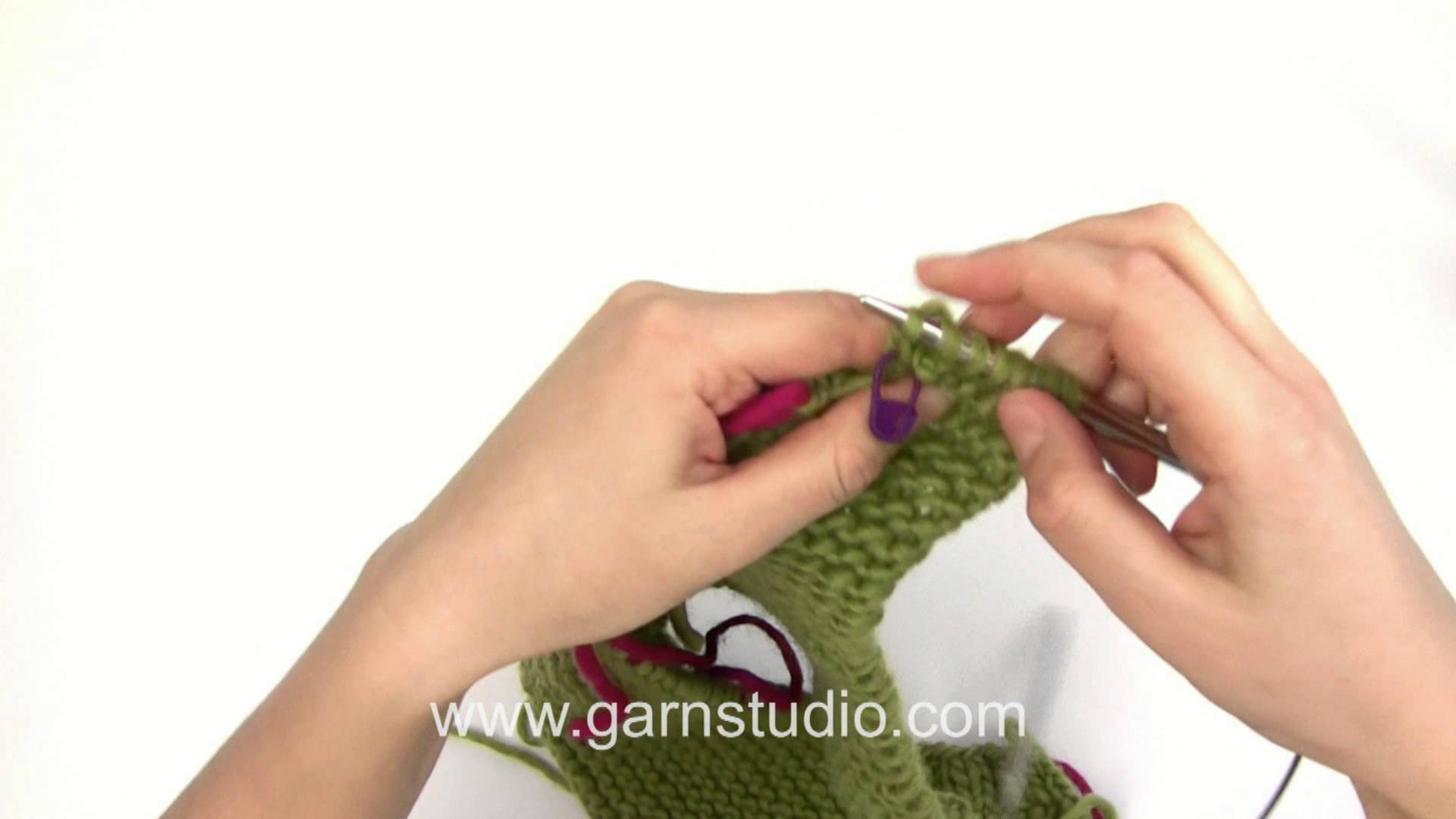 DROPS Knitting Tutorial: How to work heel for the sock in DROPS 160-21