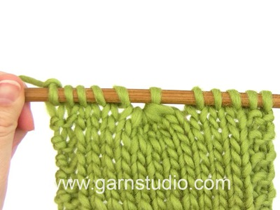 DROPS Knitting Tutorial: How to decrease by knit 5 stitches together.