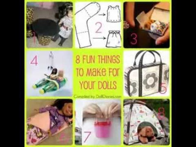 Easy DIY american girl doll craft ideas