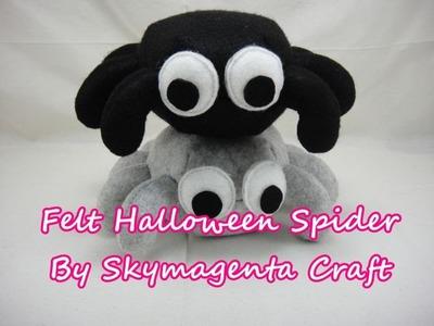 Felt Craft Tutorial - HALLOWEEN SPIDER