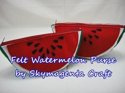 Felt Craft Tutorial - Watermelon Purse