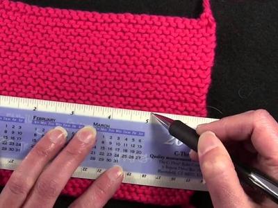 Gauge Swatch - Tutorial - Knitting Blooms