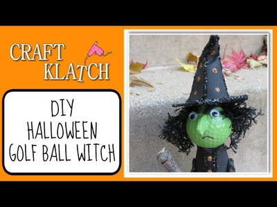 Golf Ball Witch Halloween Recycling DIY Craft Klatch Halloween Series