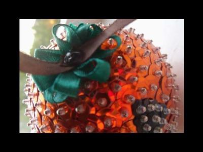 Halloween Craft Ideas - Happy Pumpkin Sequin Ornament Tutorial HD