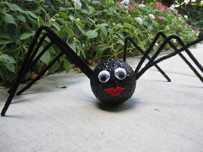 Halloween Glitter Spider Craft Tutorial
