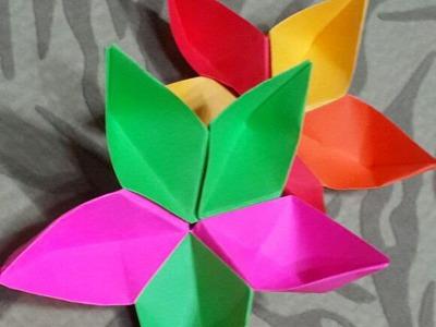Handmade Craft Ideas - Origami Flowers Folding - Tutorial .