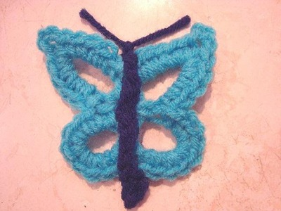 HOW TO CROCHET A BUTTERFLY.