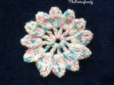 How to Crochet a Flower Pattern #67 │by ThePatterfamily