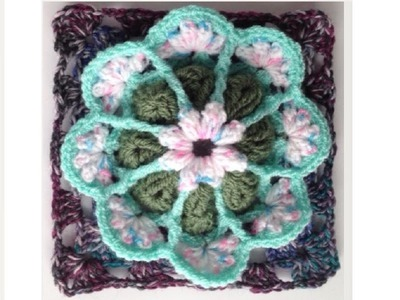 How to Crochet a Granny Square Pattern #8 │by ThePatterfamily