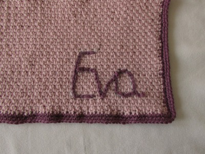 How to crochet a personalised baby blanket - crochet monogrammed blanket