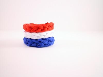 How to Crochet a T shirt Bracelet: Beginner Friendly Left Handed