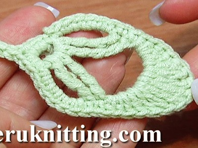 How to Crochet Leaf Little Oval Tutorial 20