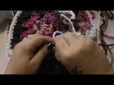 """How to Crochet my """"Granny Square Scarf"""" (Video 4)"""