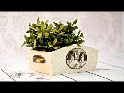 How to do dotted box - decoupage tutorial  DIY