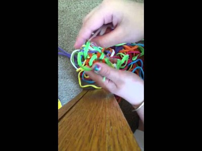How to finger knit with loops :)