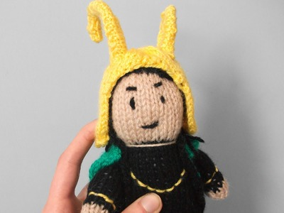 How to knit a mini Loki