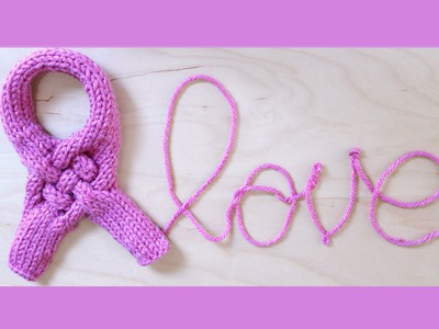 How to Knit a Pink Ribbon | Breast Cancer Awareness Month