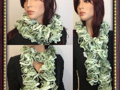 How to Knit a Ruffled Scarf Pattern #11 by ThePatterfamily