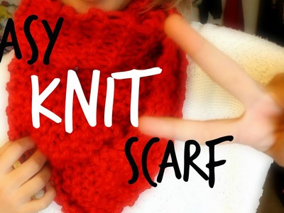 How to: Knit an Easy Chunky Scarf
