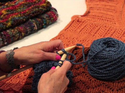 How to Knit an Eyelet Scarf : Knitting Lessons