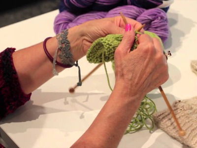 How to Knit Bobbles & Bumps : Knitting Lessons