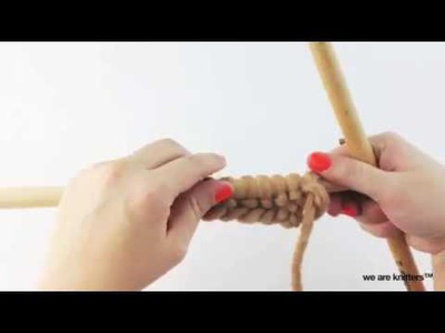 How to knit Crossed Stockinette Stitch | We Are Knitters