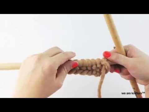 How to knit Crossed Stockinette Stitch   We Are Knitters