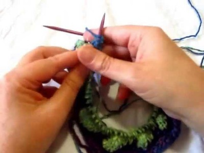 How to Knit Crown Jewel Hat Entrelac Section