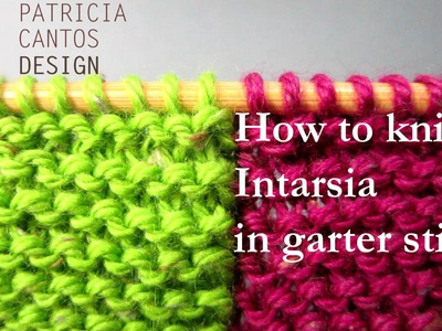 How to knit intarsia garter stitch - change color middle of row