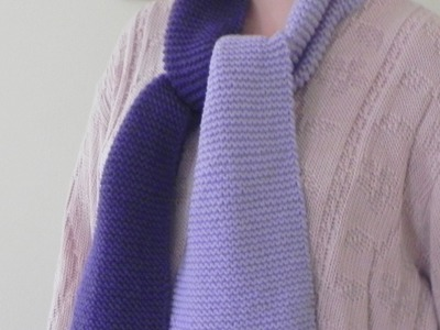 How to Knit Lesson One - The Garter Stitch Scarf