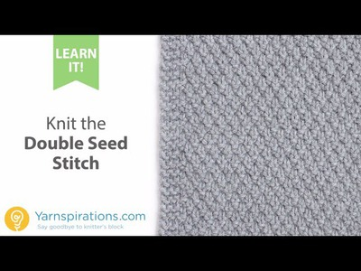 How To Knit the Double Seed Stitch