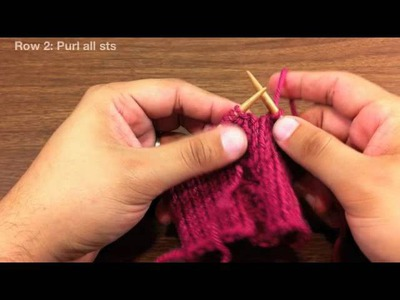 How to Knit the Raised Circle Cable Stitch (English Style)