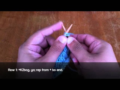 How to Knit the Slanting Open-Work Stitch