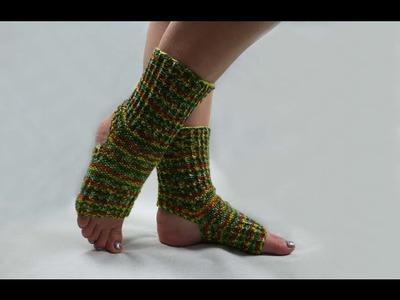 How to knit yoga socks (easy knitting pattern)