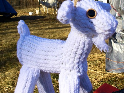 How to Loom Knit a Goat