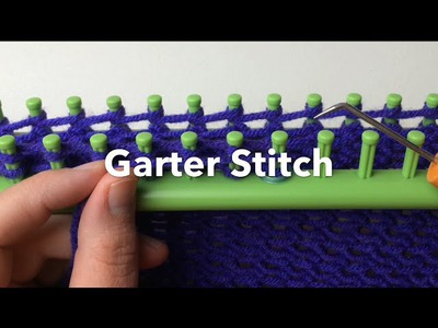 How to Loom Knit a Quick Garter Stitch Shortcut (CC Closed Captions)