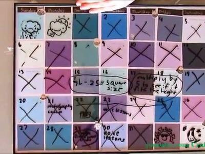 How TO Make A COOL Paint Sample Calendar - DIY Craft Art Supplies Craft Projects