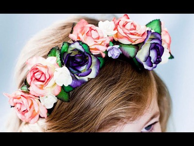 How to make a floral crown (craft tutorial)