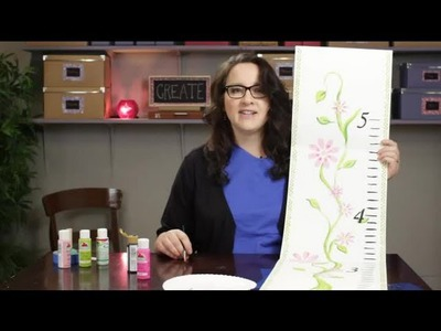 How to Make a Painted Growth Chart : Craft Projects With Paint