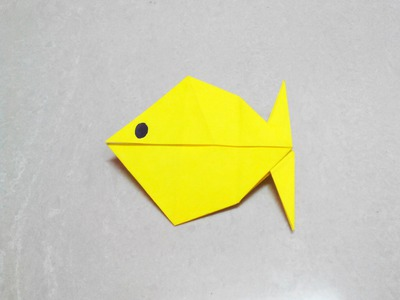 How to make an origami paper fish - 2   Origami. Paper Folding Craft, Videos and Tutorials.