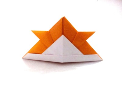 How to make an origami paper samurai helmet | Origami. Paper Folding Craft, Videos and Tutorials.