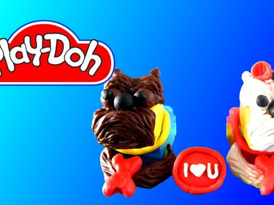How To Make Dogs with PLay Doh and Blocks