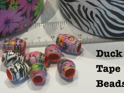 How to Make Duck Tape Beads Craft Ideas Tutorial
