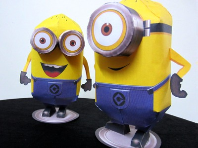 How To Make 'Minions' - DIY Simple Paper Craft (Pepakura) #Despicable Me